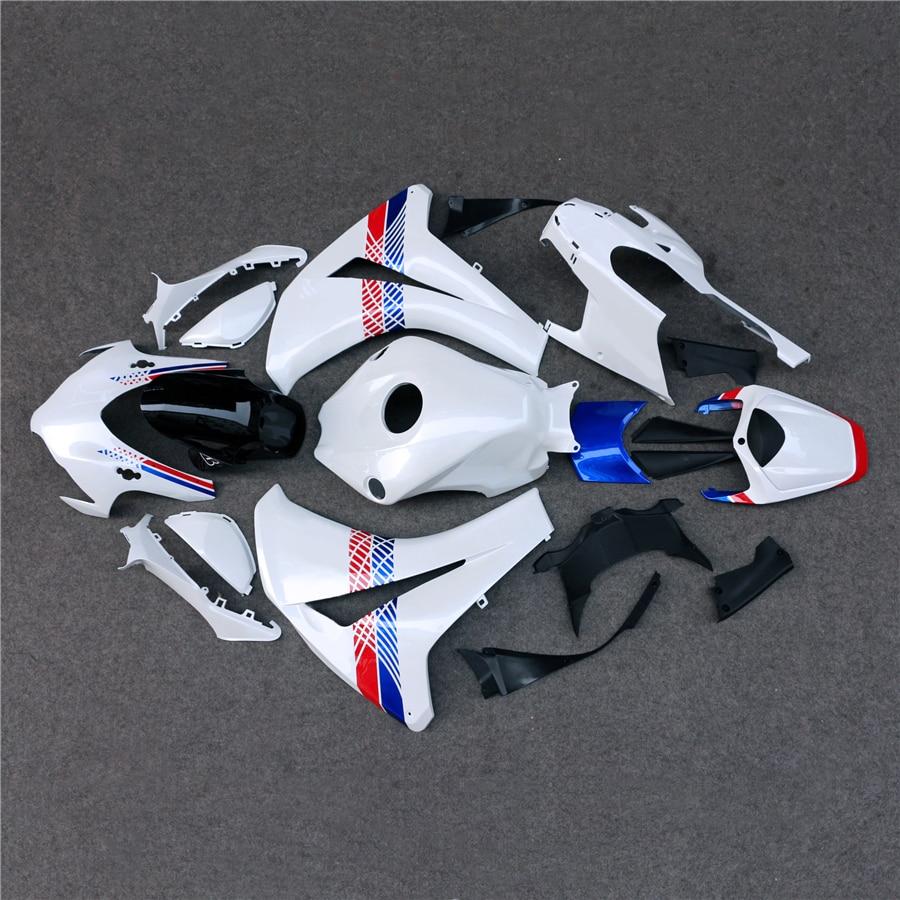 ABS Injection Full Fairing Bodywork Kit Set Fit For Honda CBR1000RR 2008-2011 09 10 Motorcycle unpainted white injection molding bodywork fairing for honda vfr 1200 2012 [ck1051]