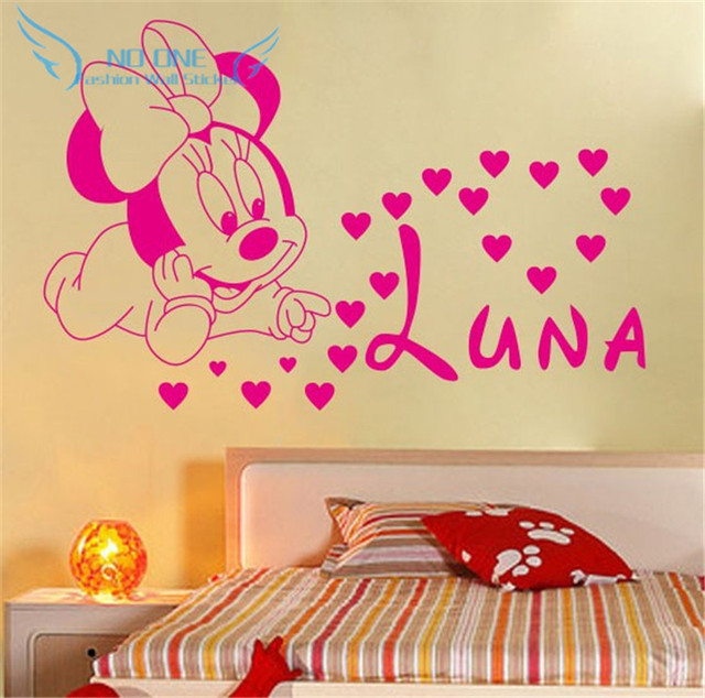 Free shipping home decoration Creative DIY cute Mickey Mouse Minnie ...