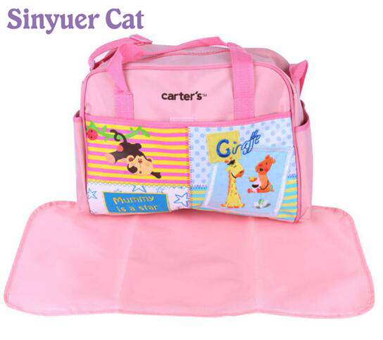 2017 Summer Style Animal Baby Diaper Bag Mummy Nappy Zebra Or Giraffe Babyboom Multifunctional Fashion Infanticipate Shoulder