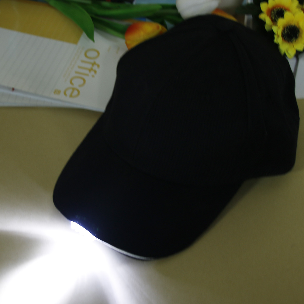 Outdoor Unisex 5 Lighted Cap Black Novelty FastenerTape Baseball Hat - Kläder tillbehör - Foto 6