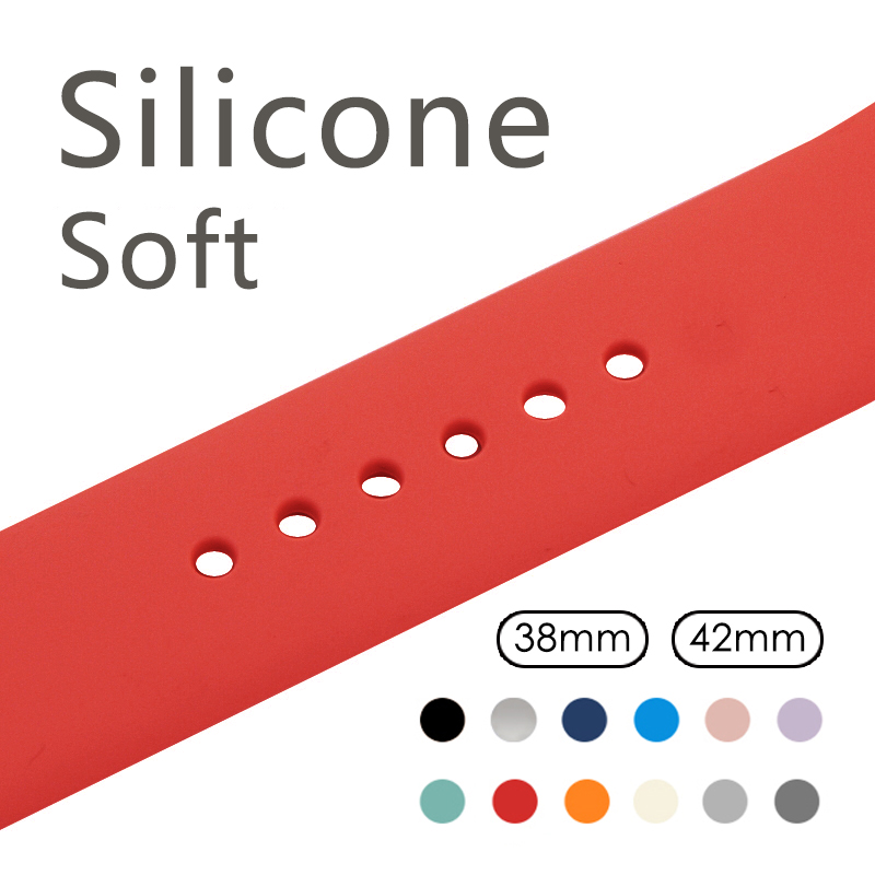 Color Soft Silicone Replacement Sport Band For 38mm Apple Watch Series1 2 3 42mm Wrist Bracelet Strap For iWatch Sports Edition large small size sport silicone replacement watch wrist strap bands for samsung gear fit 2 r360 watch band conjoined watch band