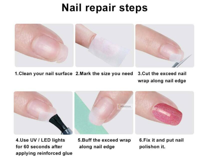 924679f30d15 1pc Nail Silk Wrap Nail art Repair Fiberglass Self Adhesive tape Strong  Protect Sticker for polish UV Gel Manicure tools-in Stickers   Decals from  Beauty ...