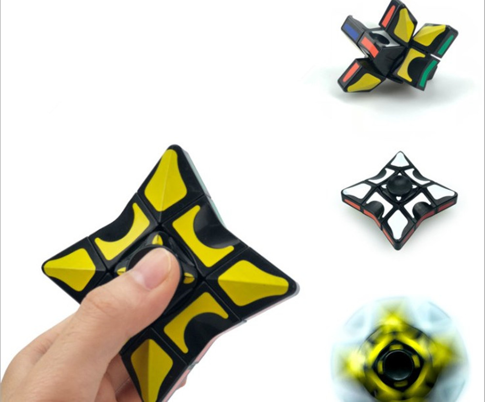 New Fingertip Gyro Magic Cubes single-order shaped rotating smooth puzzle fun children entertainment toys Handheld Game player