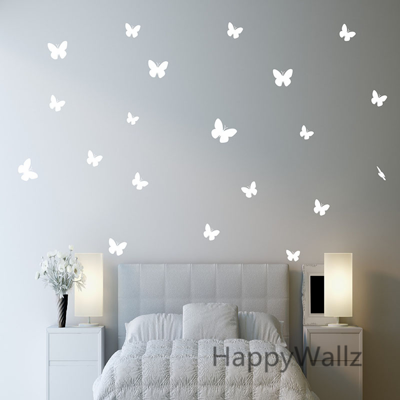 Aliexpress.com : Buy Butterfly Wall Stickers DIY Butterflies Easy Wall  Decal Kids Room Modern Decorating Baby Nursery Children Removable Decors A9  From ... Part 55