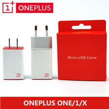 Original ONEPLUS One Charger One Plus 1/X Mobile Phone 5V/2A EU/US Usb Wall Power Adapter Charge Micro Usb Cable Charging
