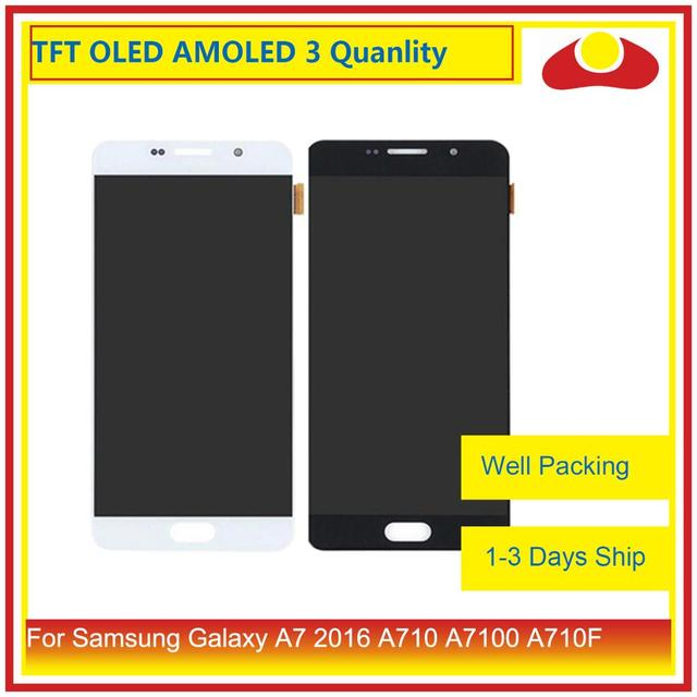 10Pcs/lot For Samsung Galaxy A7 2016 A710 A7100 A710F LCD Display With Touch Screen Digitizer Panel Monitor Assembly Complete