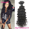 Hot sale peruvian deep wave virgin hair 4bundles no tangle 8a peruvian virgin hair deep wave human hair weave curly ms lula hair