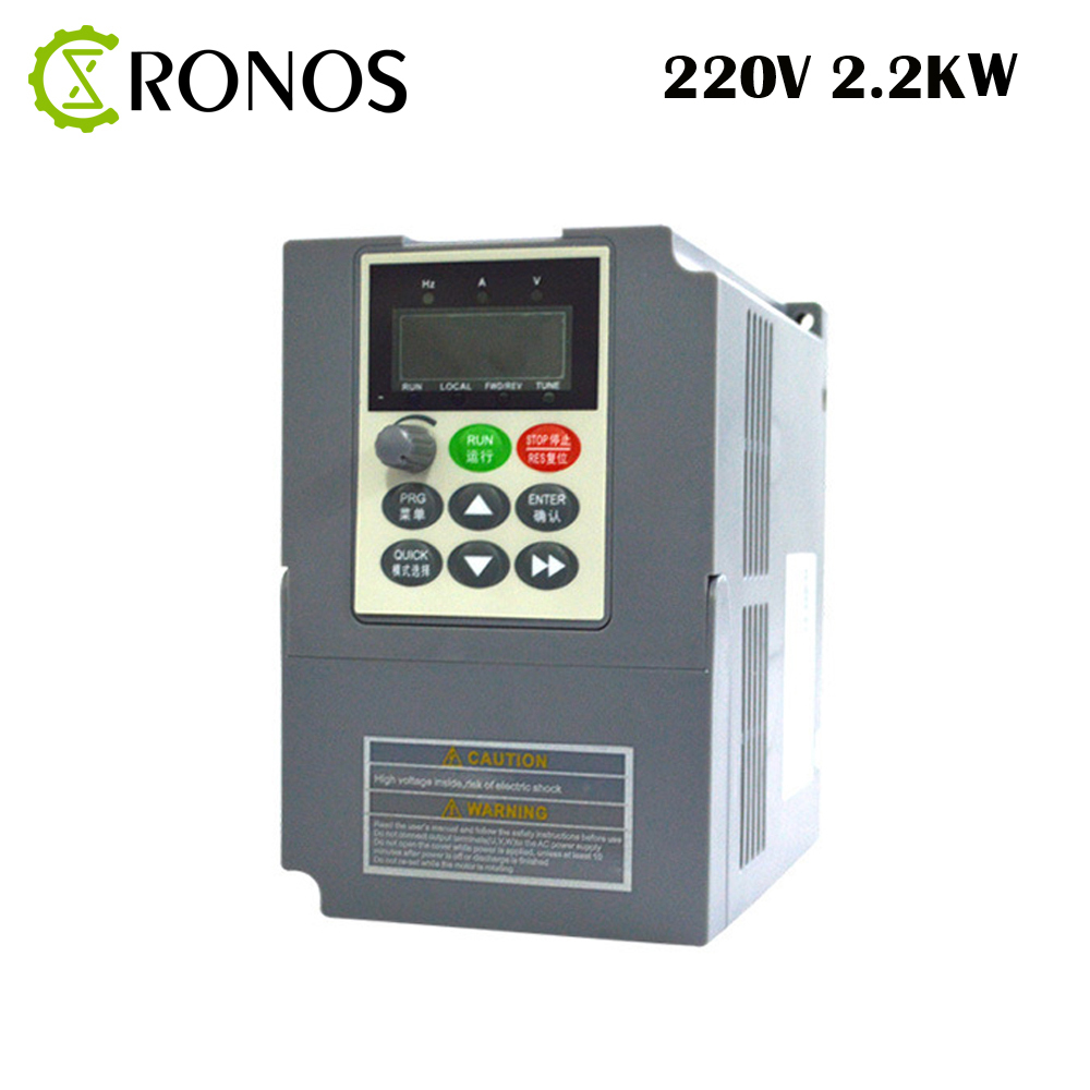 цена на 220V 2.2KW 9.6A Single Phase input and 220V 3 Phase Output Frequency Converter / AC Motor Drive / Frequency Inverter / VFD/ VSD