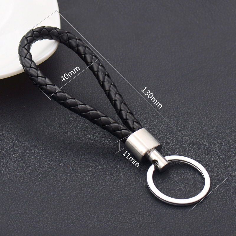 Image 5 - Car Handmade  Leather Rope Woven Key Rings Metal Keychain High end Men or Women Auto Keyring Gifts Accessories-in Key Rings from Automobiles & Motorcycles