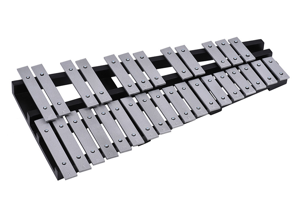 Foldable 30 Note Glockenspiel Xylophone Piano Fleet Glockenspiel Vibraphone New Music Knock Piano Percussion Instrumen KB08 plus size bow piano music note dress