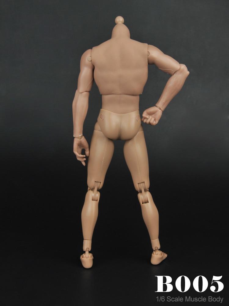 "1//6 Scale B005 Male Narrow Shoulder Nude Muscle Body F 12/"" Figure In Stock"