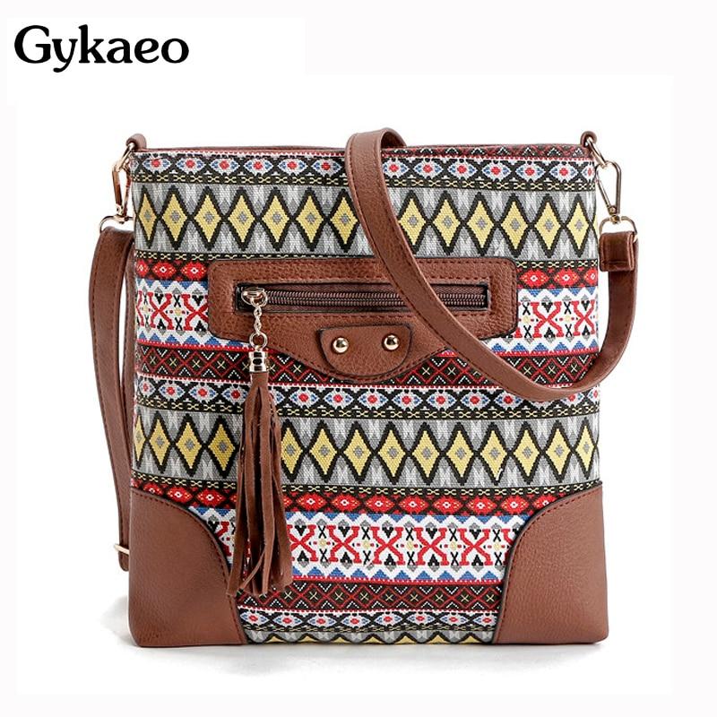 0553af504cd Annmouler Brand Women Crossbody Bag Vintage Large Capacity Shoulder ...