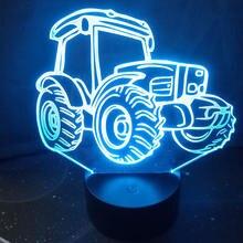 3d Тракторная настольная лампа для спальни сенсорсветильник