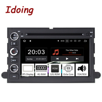 Idoing 72Din Andriod 8.0 Car Radio DVD Multimedia Player For Ford Fusion Explorer Edge PX5 4G+32G Eight Core IPS GPS Navigation