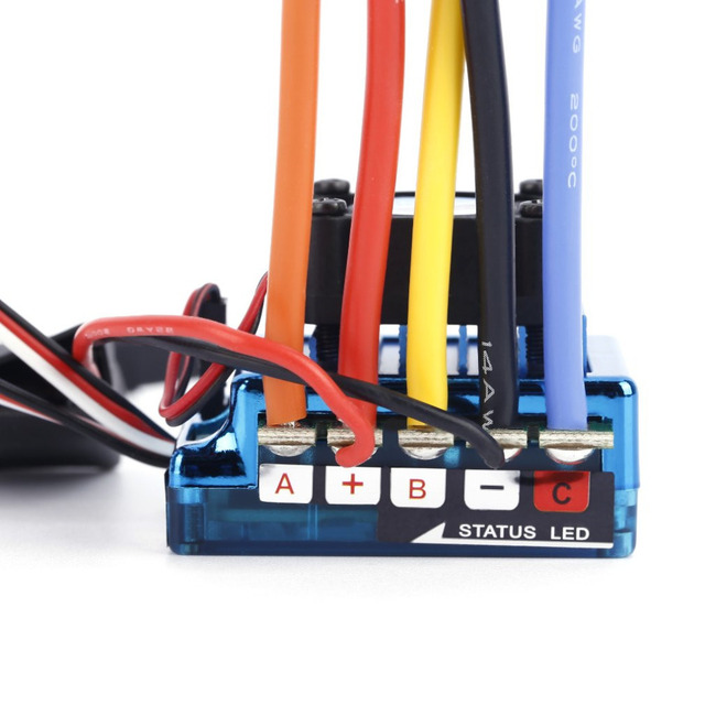 Hot! 1pc brushless 120A ESC 120a Sensored Brushless Speed Controller For 1/8 1/10 Car/Truck Crawler Toys for Childrens