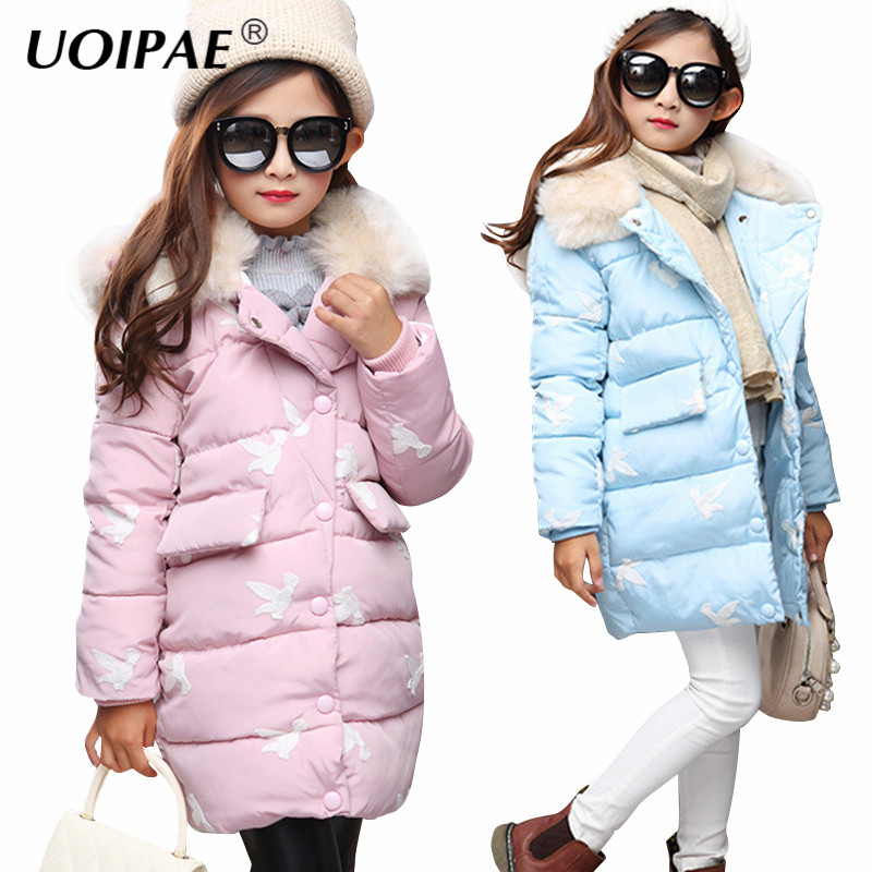 girl winter jacket boy warm hooded coat 12m 5t children fashion cute clothing kid cute clothes girl new long sleeve outerwear Jacket Girl Kids 2017 Fashion Cartoon Print Girls Warm Winter Coat Long Sleeve Fur Collar Cap Cute Children Clothing 5705W