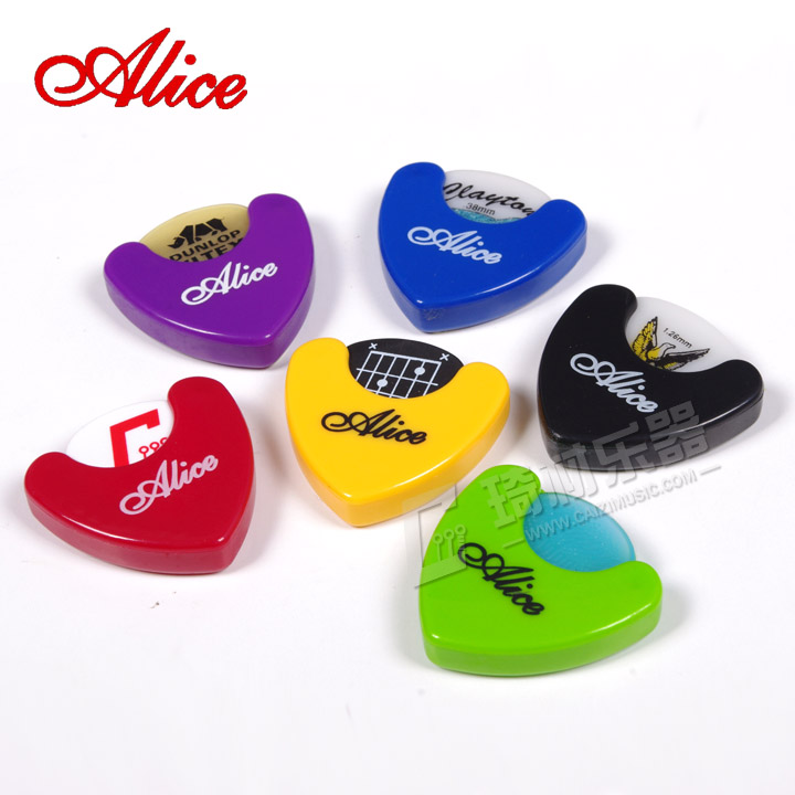 Alice A010A Triangle Guitar Pick Holder Case Storage Box Self Stick plectrum mediator