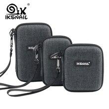 IKSNAIL 3 Boyutu Harici Depolama sert çanta HDD SSD Çanta Için 2.5 Sabit Disk Güç Bankası USB kablosu Şarj Güç Banka kulaklık ku...