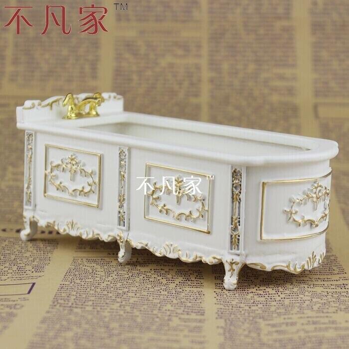 case di bambola 1 12 scala offerta speciale vernice mobili in miniatura in oro vasca