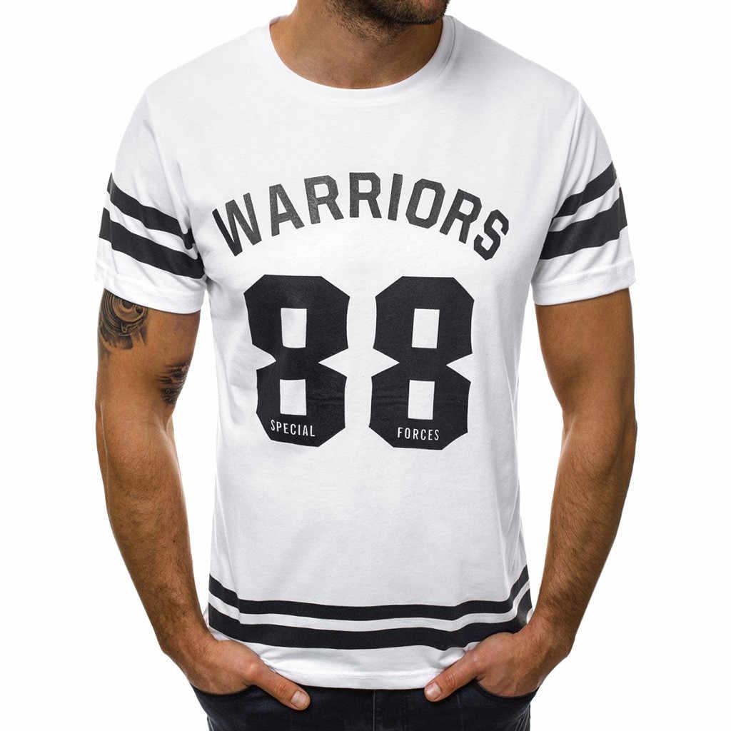 ชายเสื้อยืดฤดูร้อน 2019 พิมพ์ดิจิตอลเสื้อยืด Bar เสื้อผู้ชายกีฬาเสื้อยืดผู้ชายกีฬา Breathable