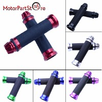 7/8 Motorcycle Grips Hand Grips W/ Bar End Handlebar Cafe Racer Bobber Clubman Custom Motorcycle @20