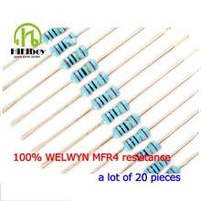 Resistance welwyn MFR4 0.25W  0.1% Resistance Metal Film Resistor Resistance Assortment Kit kinds Each 20Pcs Free Shipping