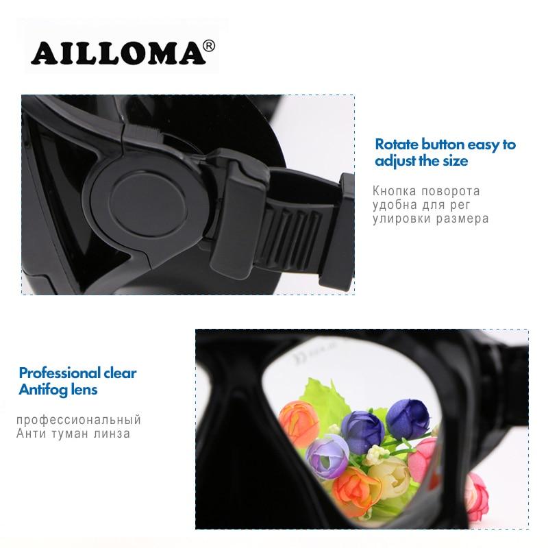 AILLOMA Wide ViSion Diving Mask Scuba- ի ստորջրյա - Ջրային մարզաձեւեր - Լուսանկար 6