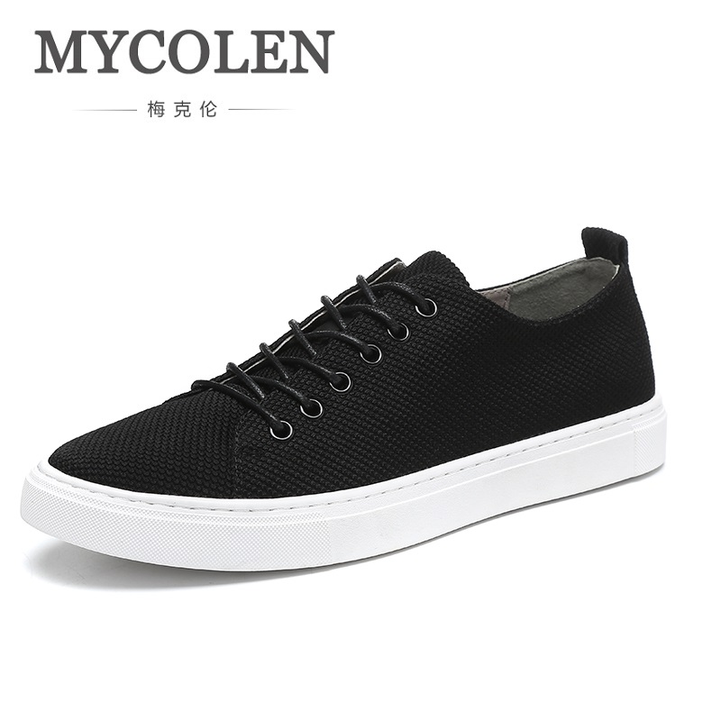 MYCOLEN New 2018 Brand Men Flat Shoes Summer Fashion Male Shoes Comfortable Classic Men Casual Shoes Chaussure Homme Cuir women s shoes 2017 summer new fashion footwear women s air network flat shoes breathable comfortable casual shoes jdt103