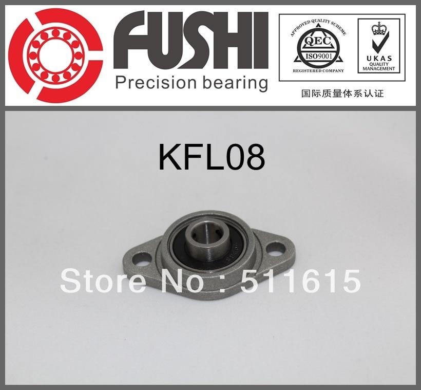 (4PCS) KFL08 Zinc Alloy  Pillow Block Bearing FL08 Flange Block Bearing 1pcs kfl006 12mm pillow block bearing flange block bearing cnc parts bearings for machinery equipment