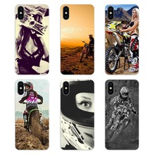 For Samsung Galaxy A5 A6 A7 A8 A9 J4 J5 J7 J8 2017 2018 Plus Prime Silicone Phone Cover motocross girl riders Pattern motorcycle(China)