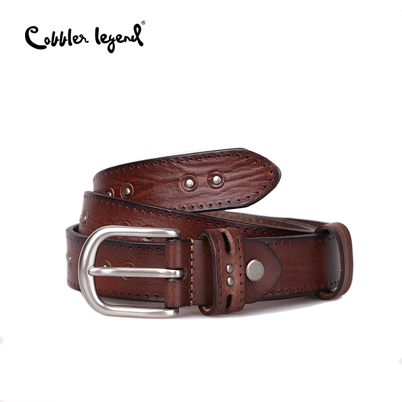 Cobbler Legend Genuine Leather   Belts   Women Cowhide Female Straps Pin Buckle   Belt   Luxury Famous Designer   Belts   Women High Quality