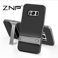 ZNP 360 Protective Case For Samsung Galaxy S7 S8 Plus Kickstand PC TPU Shock Proof Holder