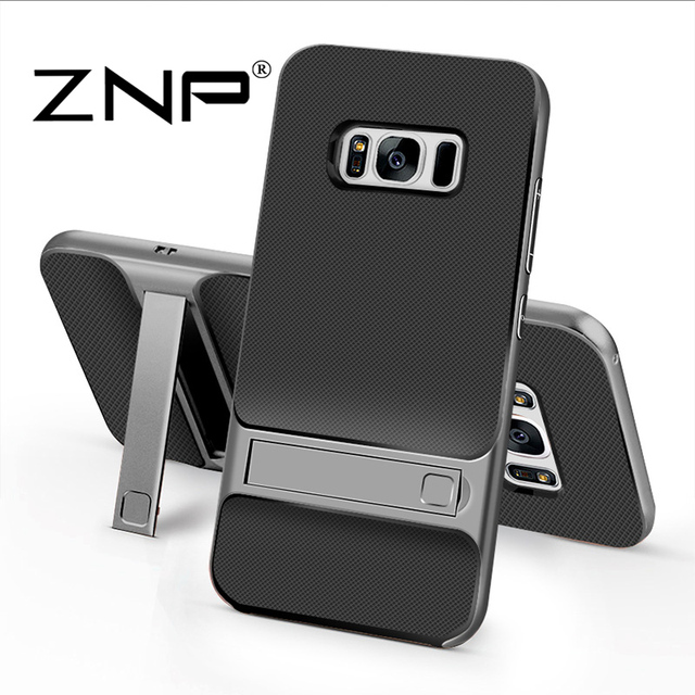 ZNP 360 Protective Case For Samsung Galaxy S7 S8 Plus Kickstand PC+TPU Shock Proof Holder Phone Cover Cases For Samsung S8 case