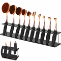 1Pcs Salon 10 Holes Makeup Brushes Plastic Holder Storage Display Stand Showing Shelf Drying Organizer Rack Cosmetic Accessories