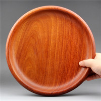 mahogany large fruit tray Myanmar flower pear wood snacks candies dried fruits solid wood fruit bowl whole wood without splicing|Dishes & Plates| |  -