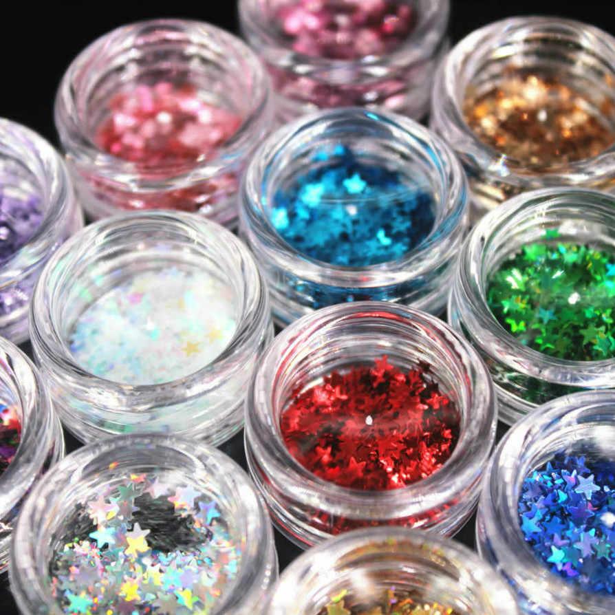1 boîte acrylique poudre cristal polymère Nail Art Design constructeur faux conseils ongles Art constructeur pour manucure ongles polymère outils étoiles