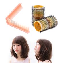 4pc/set Fashion DIY Bangs Curlers Professional Hairdressing Tool Portable Straight Hair Comb And Air Bangs Hair Roller DIY Curle