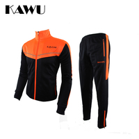 KAWU Primavera e Autunno Sport Suit Uomini Sportswear Manica Lunga Sezione Calcio Da Jogging Uomini di Rugby In Esecuzione Vestiti S17014