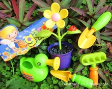 Children's Garden Simulation Flowers Tools Assembled Kid Home Toys Educational Play Toys for Kids
