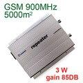 5000 metros quadrados adequado, 3 W, ganho de 85DB, GSM booster, GSM repetidor, 900 Mhz booster, GSM ampliador, 900 Mhz repetidor, shippping Livre