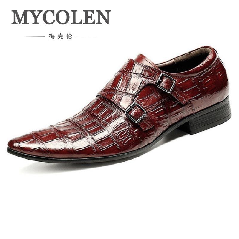 MYCOLEN italien hommes chaussures en cuir véritable Double moine sangle noir luxe mariage affaires hommes robe chaussures Herrenschuhe