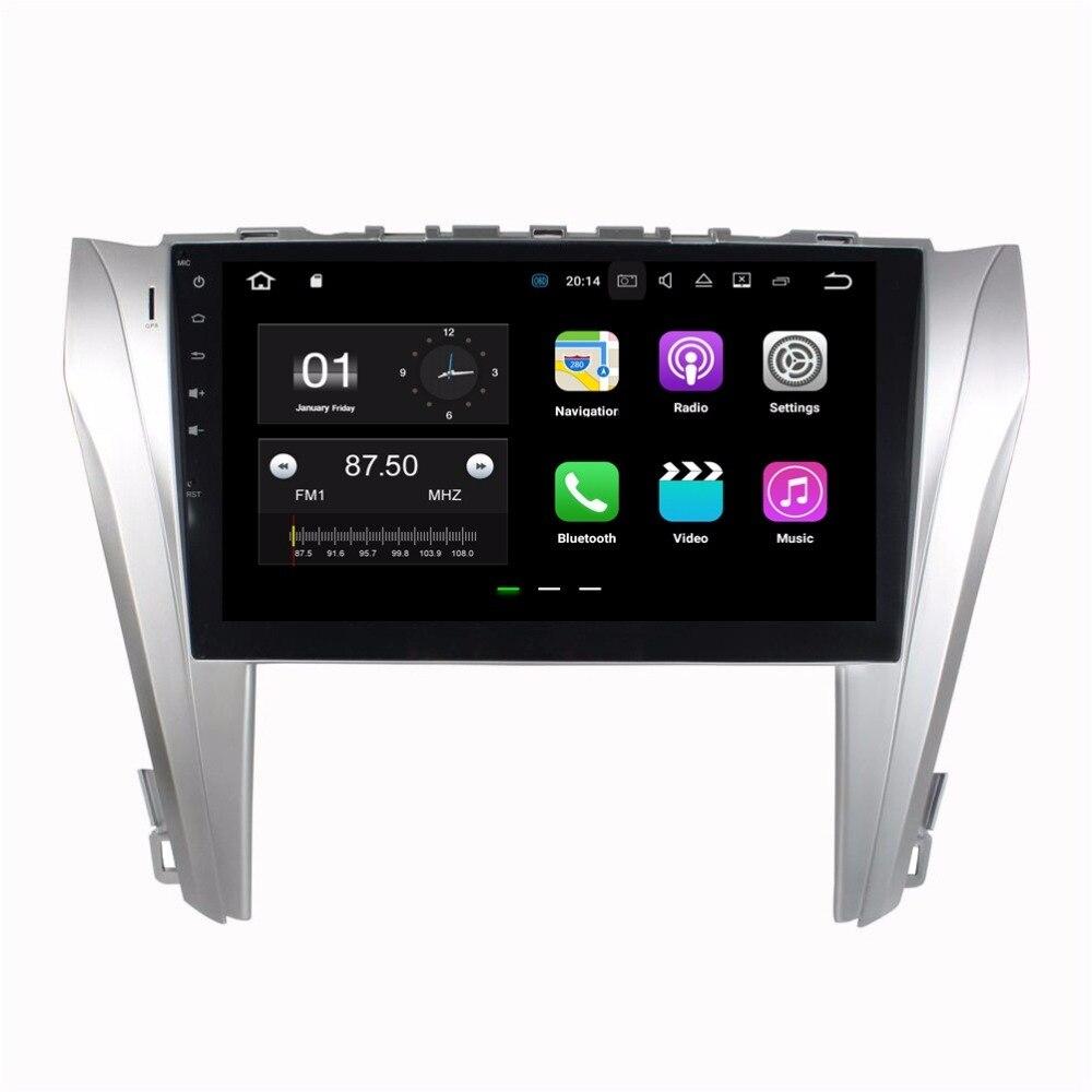 4 ядра 10.1 Android 7.1 автомобиль DVD плеер для Toyota Camry 2014 2015 с 2 ГБ Оперативная память Радио GPS WI-FI bluetooth USB DVR 16 ГБ Встроенная память