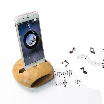 U&I  Phone Sound Amplifier Universal Wood Mobile Phone Holder Stand Cellphone Wood Loudspeaker mobile phone