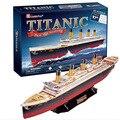 3D Modelo de Papel DIY kits modelo de barco navio Titanic Puzzles crianças brinquedos presentes Criativos para Crianças brinquedos Educativos criança Deluxe edition