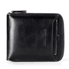 2019 Baellerry Leather Vintage Men Wallets Card Holder Business Male Clutch Purse Wallet Men Money Bag Zipper Coin Pocket W016