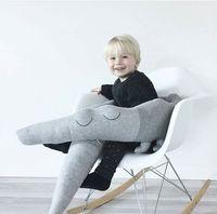 Kids Pillow 185cm Long Stuffed Crocodile Toys Plush Baby Bumper Crib Bed Protector Cotton Sofa Cushion Children Room Decor
