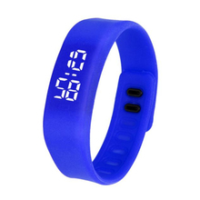Paradise 2016 Fashion LED Sports Running neutral Watch Date Rubber Bracelet Digital Wrist Watchch Free Shipping Apr09