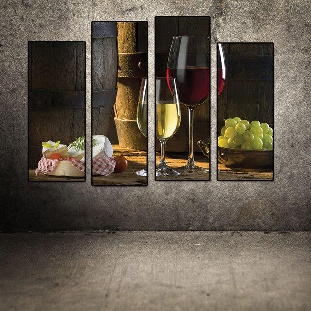 Kunst Auf Leinwand Und Traube Rotwein Glas Ungerahmt Moderne ...