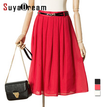 skirt WHITE RED Empire