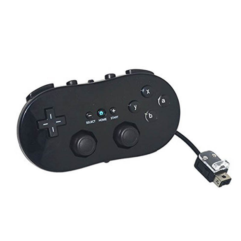 For Wii Mini Classic Controller Pro Black White Gamepad For Wii Remote Accessories Video Games Joystick